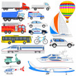 Stock Vector: Means of Transport