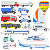 Means of Transport — Stock Vector