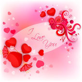 I Love You Valentine Background — Stock Vector