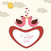 Kärlek fågel — Stockvektor
