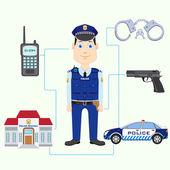 Policía — Vector de stock