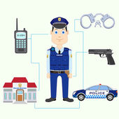 Policeman — Stock Vector