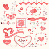 Valentines'd Day Designing Element — Stock Vector