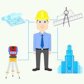 Architect — Stock Vector