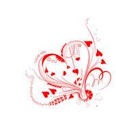 I Love You Valentine Background — Stock Vector