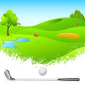 Campo de golf — Vector de stock