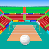 Volleyball Ground — Stock Vector