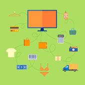 Online Shopping — Stock Vector