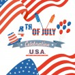 Fourth of July American Independence Day — Stock Vector #48261799