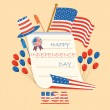 Fourth of July American Independence Day — Stock Vector #48261833