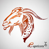 Capricorn Zodiac Sign — Stock Vector