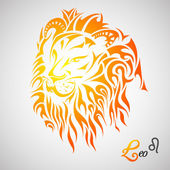 Leo Zodiac Sign — Stock Vector