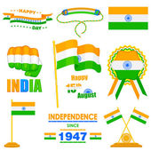Object on India Independence day theme — Stock Vector