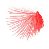 Red colored crayon drawing — Stock Photo