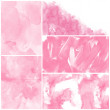 Set of pink watercolor abstract hand painted backgrounds — Stock Photo