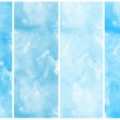 Set of blue watercolor abstract hand painted backgrounds — Stock Photo