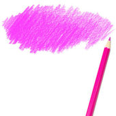 Pink colored pencil drawing — Stock Photo
