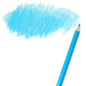 Blue colored pencil drawing — Stock Photo