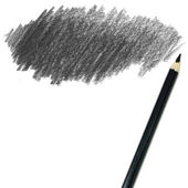 Black colored pencil drawing — Stock Photo