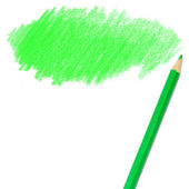 Green colored pencil drawing — Stock Photo