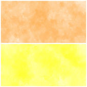 Set Of yellow and orange Abstract watercolor background — Stock Photo