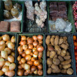 Fruits and vegetables in a farmers market — Foto de Stock