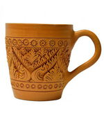 Cup with Thai pattern — Stock Photo