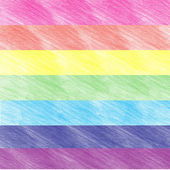 Child's rainbow crayon drawing. Hand-drawn colored pencil background — Stock Photo