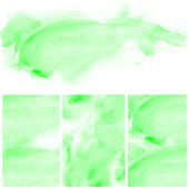Set of green water color art background — Stockfoto