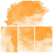 Set of orange water color art background — Stock Photo