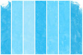 Set of Abstract blue water color art hand paint background — Stock Photo