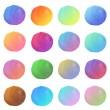 Hand painted circles — Stock Photo