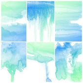 Blue water color art — Stock Photo