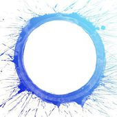 Blue splash circle — Stock Photo