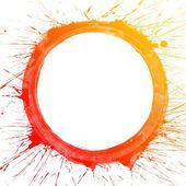 Colorful splash circle — Stock Photo