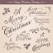 Stock Vector: Vintage Christmas greetings
