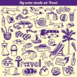 Travel Doodles Collection Vector — Stock Vector