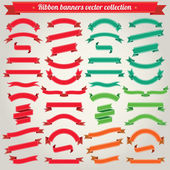 Ribbon Banners Vector Collection — Stock Vector