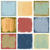 Grunge Square Backgrounds Vector — Stock Vector