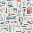 Royalty-Free Stock Vector Image: Tools Instruments Seamless Pattern Vector