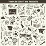 School And Education Doodles Vector — Stock Vector