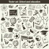 School And Education Doodles Vector — Stock Vector