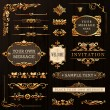 Vintage Golden Calligraphic Design Elements And Page Decoration — Stock Vector