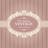 Vintage Background Frame Template — Stock Vector