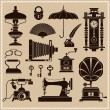 Design Elements - Vintage Ephemera And Objects Of Old Era — Stock Vector #42525973