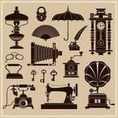 Design Elements - Vintage Ephemera And Objects Of Old Era — Stock Vector