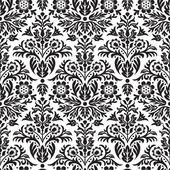Damast naadloze floral patroon achtergrond — Stok Vektör
