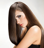 Woman with Long Hair — Stock Photo
