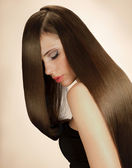 Woman with Long Hair. High quality image. — Stock Photo