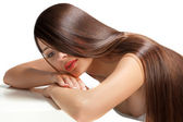 Woman with Healthy Long Hair — Stock Photo